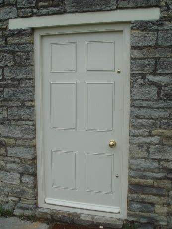 A custom timber door by Timber Glaze
